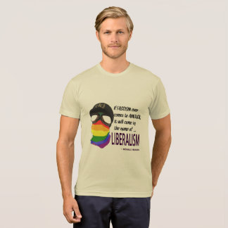 Liberalism and Fascism- Poly-Cotton-T-Shirt T-Shirt