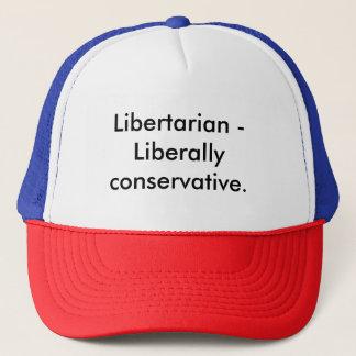 Liberally conservative trucker hat