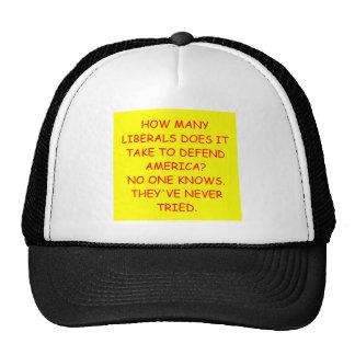 liberals mesh hats