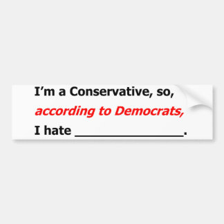 Liberals' Lies Bumper Sticker