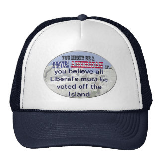 liberals must be voted off island trucker hat