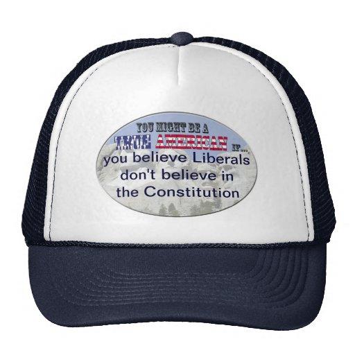 liberals no constitution trucker hats