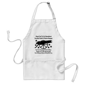 Liberals Say The 2nd Amendment Does Not Apply Standard Apron