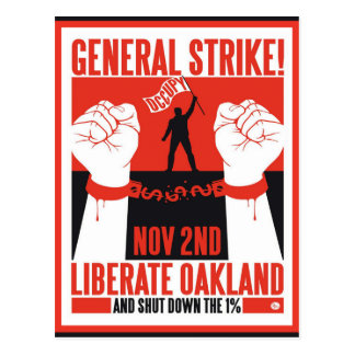 Liberate Oakland Occupy Protest Flyer Postcard