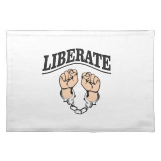 liberate the captive artwork placemat