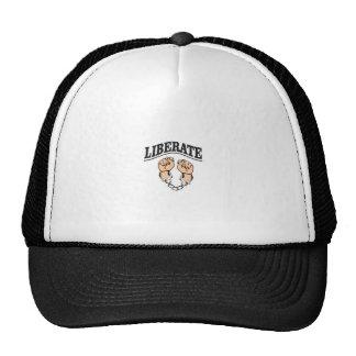 liberate the captive artwork trucker hat