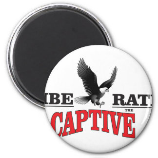 liberate the slaves bird 2 inch round magnet