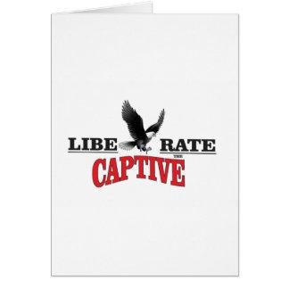 liberate the slaves bird card