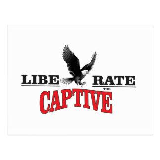 liberate the slaves bird postcard