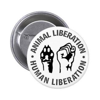 Libération animale et humaine badge