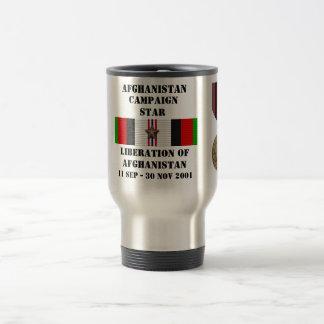 Libération de l'Afghanistan/d'ÉTOILE de CAMPAGNE Mug De Voyage En Acier Inoxydable