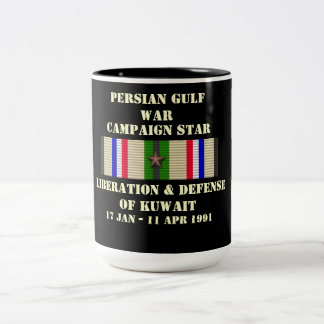 Liberation & Defense of Kuwait Campaign Two-Tone Coffee Mug