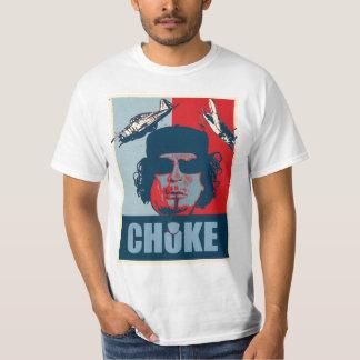 Liberation Muammar Gaddafi Choke poster t shirt