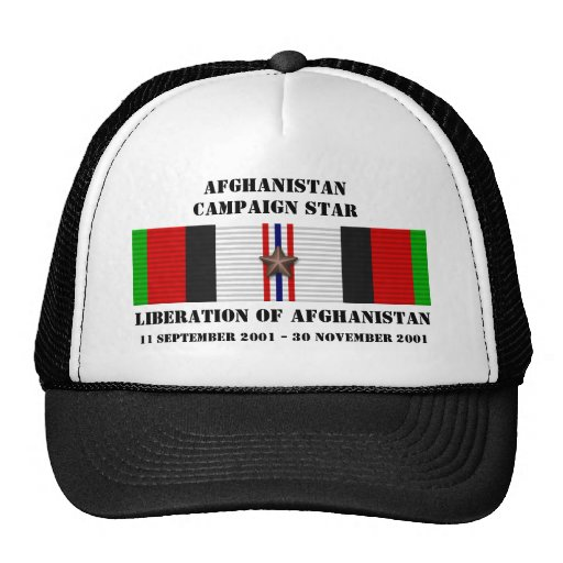 Liberation of Afghanistan / CAMPAIGN STAR Trucker Hats