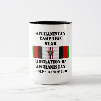 Liberation of Afghanistan / CAMPAIGN STAR Two-Tone Mug