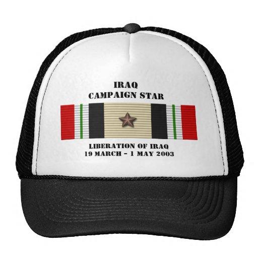 Liberation of Iraq Campaign Star Trucker Hat