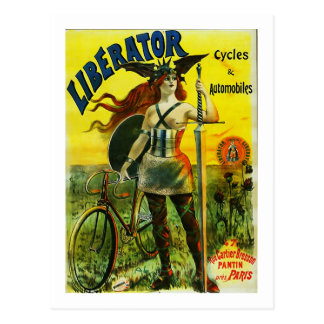 LIBERATOR Cycles Automobiles Post Card