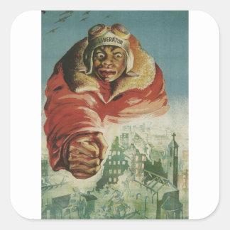 Liberator Propaganda Poster Square Sticker