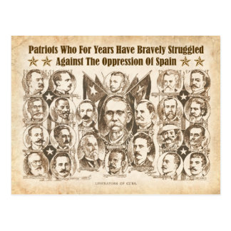 Liberators of Cuba - 1898 Newspaper Article Postcard