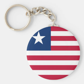 liberia basic round button keychain