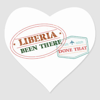 Liberia Been There Done That Heart Sticker