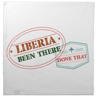 Liberia Been There Done That Napkin