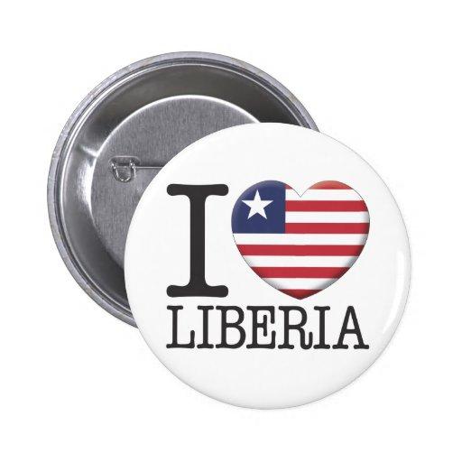 Liberia Pinback Button