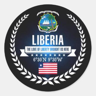 Liberia Classic Round Sticker