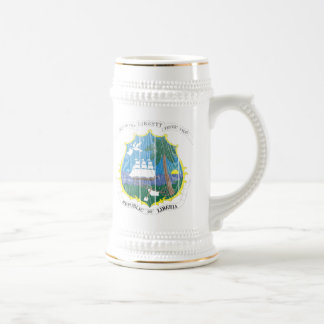 Liberia Coat Of Arms Beer Stein