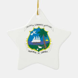 Liberia Coat of Arms Ceramic Star Ornament