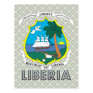 Liberia Coat of Arms Postcard