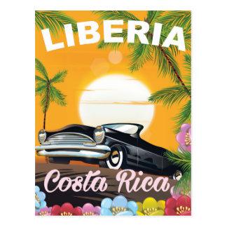 Liberia, Costa Rica vintage travel poster Postcard