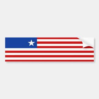 liberia country flag nation symbol bumper sticker