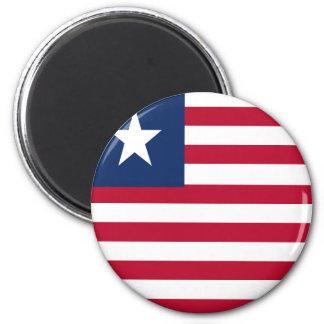 Liberia flag 2 inch round magnet