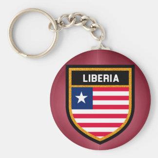 Liberia Flag Basic Round Button Keychain