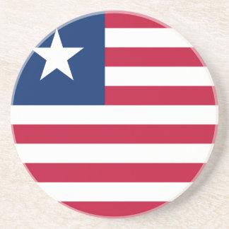Liberia Flag Beverage Coasters