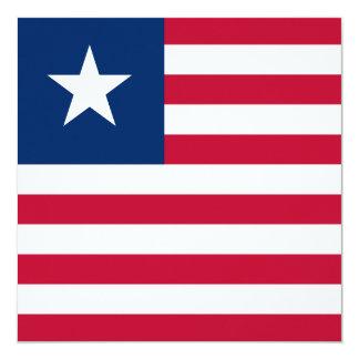 Liberia Flag Card