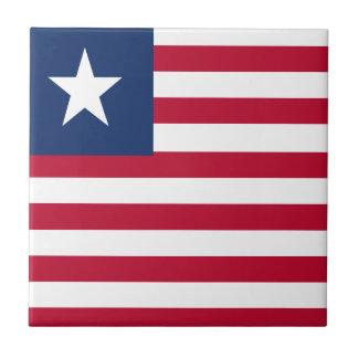Liberia flag ceramic tiles