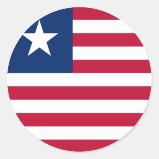 Liberia Flag Classic Round Sticker