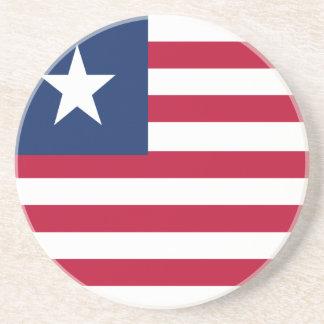 Liberia flag coaster