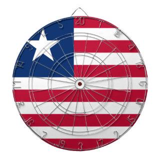 Liberia Flag Dartboard With Darts