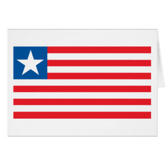 Liberia Flag Greeting Card