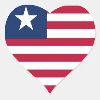 Liberia flag heart sticker