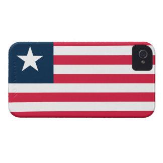 Liberia Flag iPhone 4 Case-Mate Cases