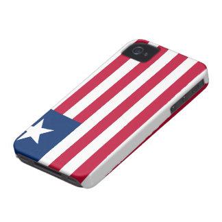 Liberia Flag iPhone 4 Cases