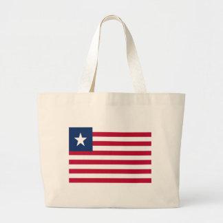 Liberia flag large tote bag