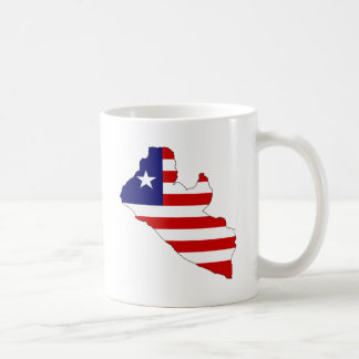 Liberia Flag Map full size Coffee Mug