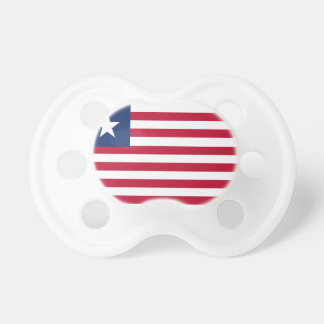 Liberia flag pacifier