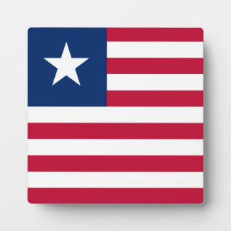 Liberia Flag Photo Plaque