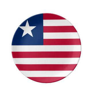 Liberia Flag Porcelain Plate